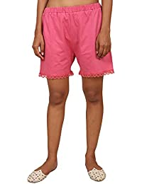 9teenAGAIN Women's Hosiery Pink Lace Short(Pink)