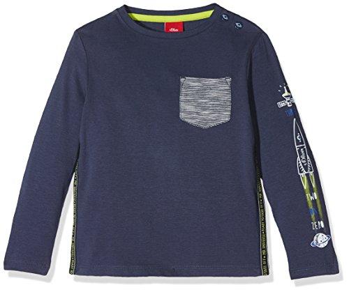 s.Oliver Baby-Jungen Langarmshirt 65.711.31.7791, Blau (Tintenblau 5815), 92