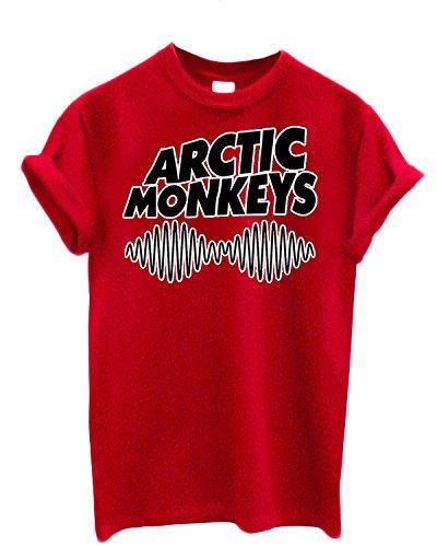 T-shirt Homme Arctic Monkeys - T-shirt 100% coton LaMAGLIERIA,M, Rouge