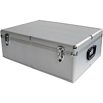 schwarz 1000 er cd koffer aluminium look dj box mit computer zubeh r. Black Bedroom Furniture Sets. Home Design Ideas
