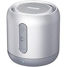Anker SoundCore Mini Super Altavoz Bluetooth portátil con 15 horas de juego, 20 metros de alcance Bluetooth y bajo fuerte (gris)