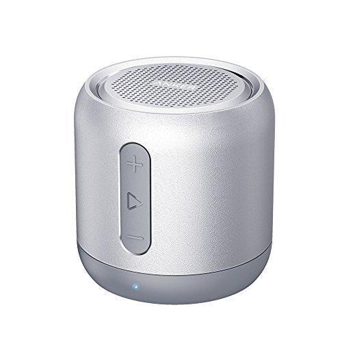 Anker SoundCore Mini Super Mobiler Bluetooth Lautsprecher Speaker mit 15 Stunden Spielzeit, 20 Meter Bluetooth Reichweite und Starkem Bass (Grau)