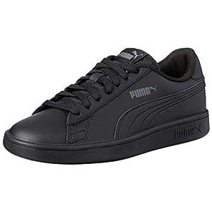 PUMA Unisex Adult's Smash v2 L Low-Top Sneakers, Black Black, 6.5 UK