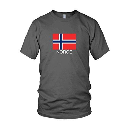 Norwegen / Norge - Herren T-Shirt Grau
