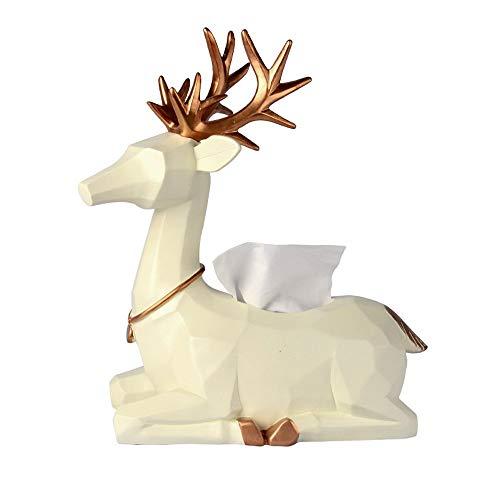Europäische kreative Tissue Box Papier Handtuchhalter exquisite Harz Hirsch dekorative Ornamente Individualität Serviettenhalter Buch Box für Couchtisch Wohnzimmer - Deckenventilatoren Hampton