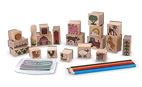 Melissa & Doug Stamp-a-Scene Wooden Stamp Set: Farm - 20