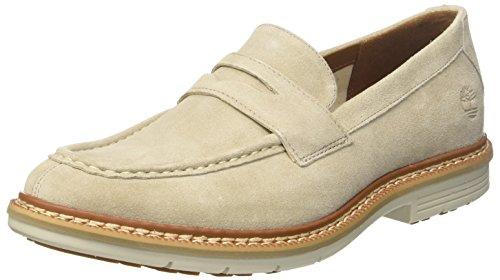 Timberland Bayham, Zapatos de Cordones Oxford para Hombre, Blanco (Rainy Day Canvas F48), 41.5 EU