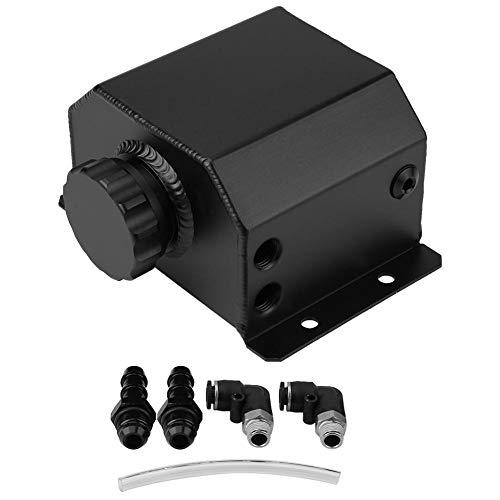 KIMISS Motore in lega di alluminio Serbatoio olio universale Serbatoio traspirante Serbatoio filtro di scarico gas di scarico(nero)