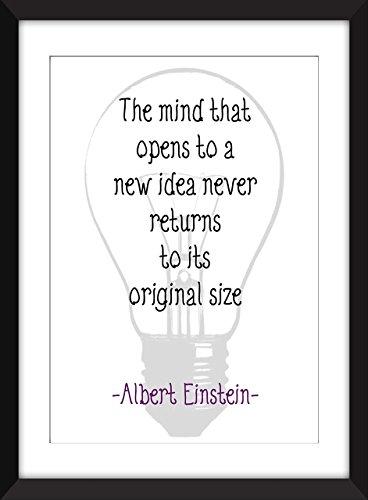 """Albert Einstein """"Mind"""" Zitat Kunstdruck, 11 x 14/8 x 10/5 x 7 """"A3 / A4 / A5 Druck, Typografie Druck"""