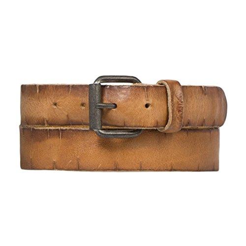 Cowboysbelt Unisex Leder Gürtel 353001 Natural - Größe 90