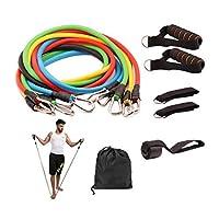 مجموعة اربطة المقاومة لممارسة الرياضة وتمارين اللياقة الاحترافية متعددة الوظائف من 11 قطعة، للرجلين والكاحل