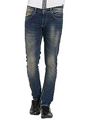 Spykar Mens Black Super Skinny Fit Low Rise Jeans (32)
