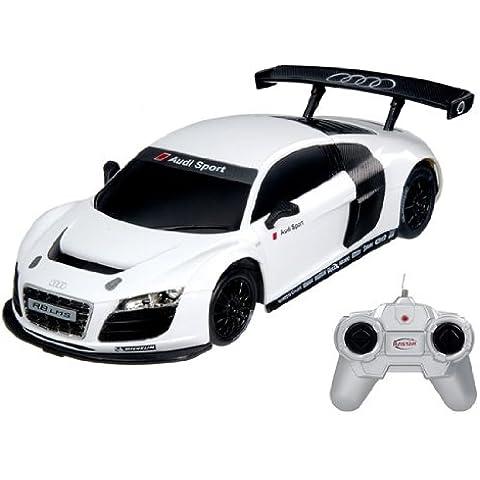 RASTAR 46800 Authorized 1:24 Scale Audi R8 LMS Radio Remote Control RC Car Model (White)