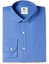 Excalibur EX by Men's Plain Regular Fit Formal Shirt (Pack of 2)