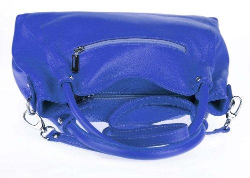 Made Italy, Borsa tote donna 37x27x13 cm (BxHxT) Blu