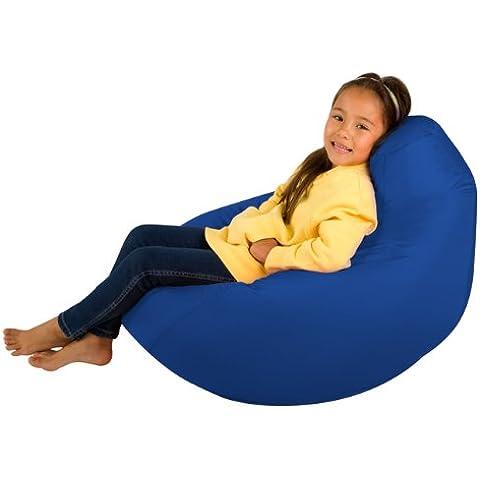 Kids Hi-BagZ–Puf de niños juegos silla–Puf para niños (resistente al agua), color