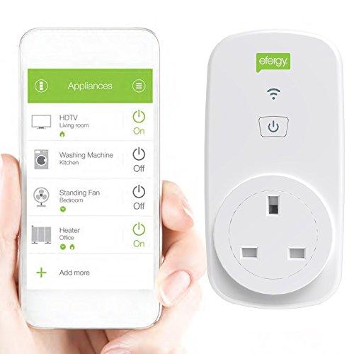 Efergy EGO-EU - Enchufe inteligente Wi-Fi (240 V) color blanco