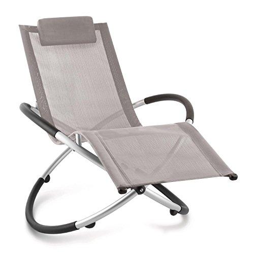 blumfeldt Chilly Billy ergonomische Relaxliege Liegestuhl Gartenstuhl Klappstuhl (Liege, 180 kg maximale Belastung, atmungsaktiv, witterungsbeständig, pflegeleicht, faltbar) grau -