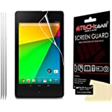 [Pack of 3] TECHGEAR Google Nexus 7 2 II 2nd Gen 2013 Version CLEAR LCD Screen Protectors With Screen Cleaning Cloth & Application Card