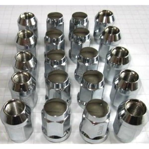 20 Chrom Radmuttern Set I Kegelbundaufnahme Für 5 Lock Felgen I M12 X 1 5 X 34 I Chrom Radmuttern Auto