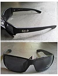hotrodspirit - lunette de soleil locs noir brillant ecrit noir adulte homme