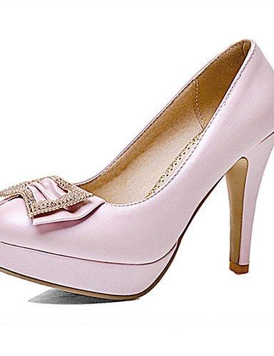 WSS 2016 Chaussures Femme-Mariage / Habillé / Décontracté / Soirée & Evénement-Bleu / Rose / Blanc-Talon Aiguille-Talons-Talons-Matières blue-us8.5 / eu39 / uk6.5 / cn40