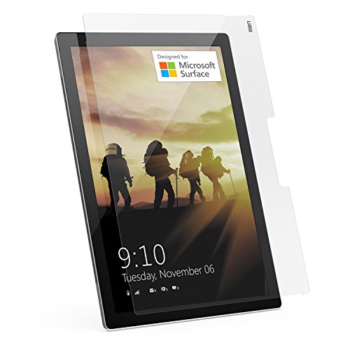 Urban Armor Gear Tempered Glass Displayschutzfolie für Microsoft Surface Pro 3 / Pro 4 [9H Härtegrad | Anti-Fingerabdruck | 0,3mm dünn] - UAG-SFPRO3/4-SP
