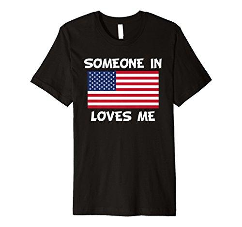 Someone in Amerika loves me American Flagge T-Shirt Preisvergleich