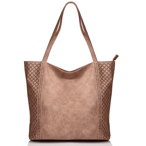 KISS GOLD (TM) Tissu Sac à Main/Epaule/Bandoulière ajustable /Porté Travers Large Capacité pour Filles/Femmes Multional