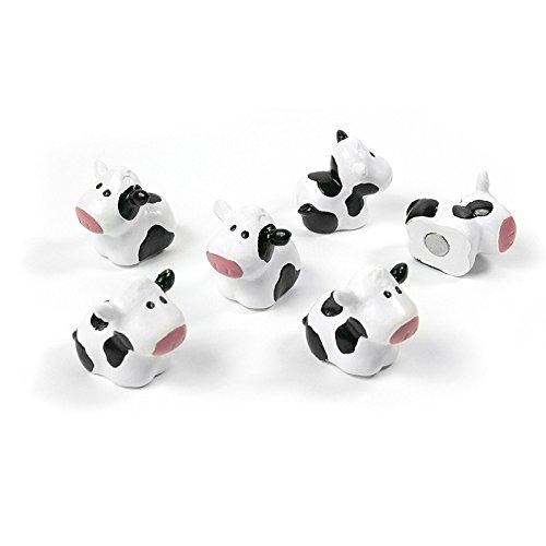 Trendform Magnete 6 glückliche Kühe im Set. 20mm x 17mm x 14mm Kühlschrankmagnete aus - Kuh-magnet
