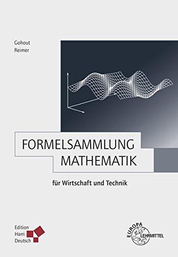 Buchcover: Formelsammlung Mathematik für Wirtschaft und Technik