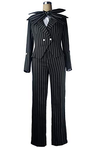 MingoTor Skelett Outfit Jack Skellington Karneval Cosplay Kostüm Herren S