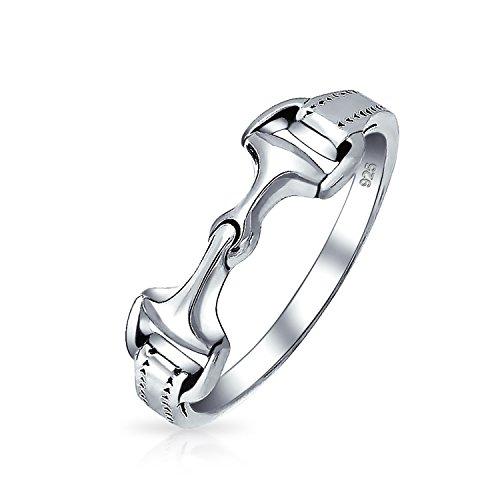 925 Sterling Silber Kuh Reiter Mit Pferd Bit Bandring Ringe Für Damen Für Jugendlich