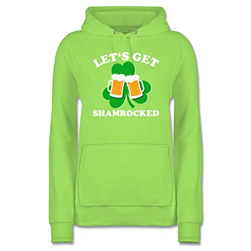 Kostüm Party Stadt Green Mann - St. Patricks Day - Let's get Shamrocked - XXL - Limonengrün - JH001F - Damen Hoodie