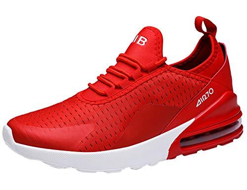 GNEDIAE Uomo Air 270 a Collo Basso Scarpe da Ginnastica Corsa Sportive Running Sneakers Casual all'Aperto Rosso 46 EU