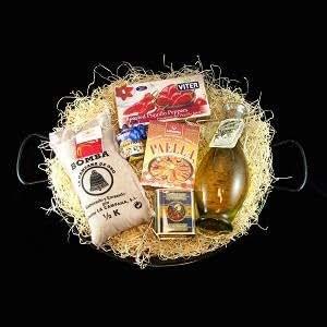 Poêle à paella Coffret cadeau de luxe pour 8personnes Y Compris Paella épices, Poêle à paella et recette