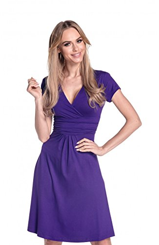 Glamour Empire Flattering Dress 108 - Patineuse - Femme Violet