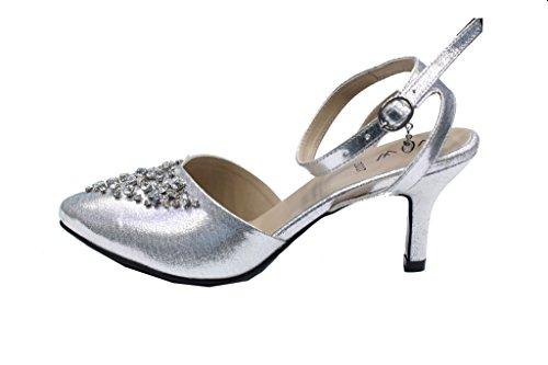 Wear & Walk UK , Sandales pour femme silver