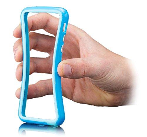 Apple iPhone 5C | iCues Pare-chocs avec des boutons en aluminium Violet | [protecteur d'écran, y compris] cas Frame cas de couverture Coque Housse Sac Étui Case Cover orange