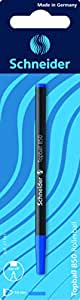 Stylos schneider-mine pour stylo roller topball 850–pointe 0,5 mm-bleu-emballage blister