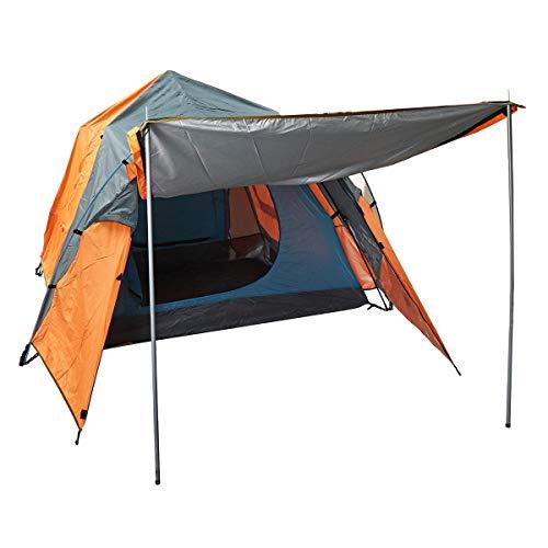 Pyramide Zelt 3-4 Personen Outdoor automatische Zelt Camping wasserdichte Doppelschicht Baldachin Sonnenschutz Camping und Wandern (Farbe : Orange)