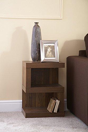 Hampton Holz (Lampe Tisch Dunkles Holz Akazie Effekt Kaffee Seite Ende Tisch Hampton)