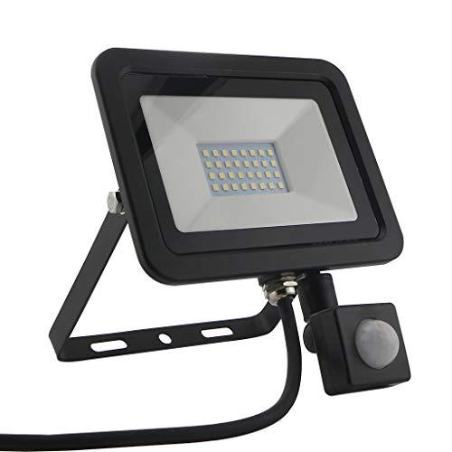 Menschliche Körperinduktion Licht LED-Scheinwerfer Mit PIR Zum Super Hell Flutlichtstrahler IP66 Wasserdicht Sicherheitslicht (größe : 20w)
