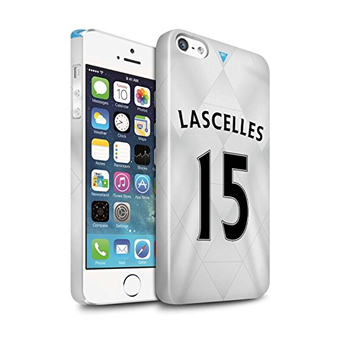 Offiziell Newcastle United FC Hülle / Glanz Snap-On Case für Apple iPhone 5/5S / Pack 29pcs Muster / NUFC Trikot Away 15/16 Kollektion Lascelles