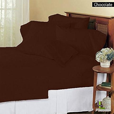 800TC Elegante Finitura 6in 100% cotone egiziano set Solid (tasca dimensioni: 28pollici), Cotone, Chocolate Solid,
