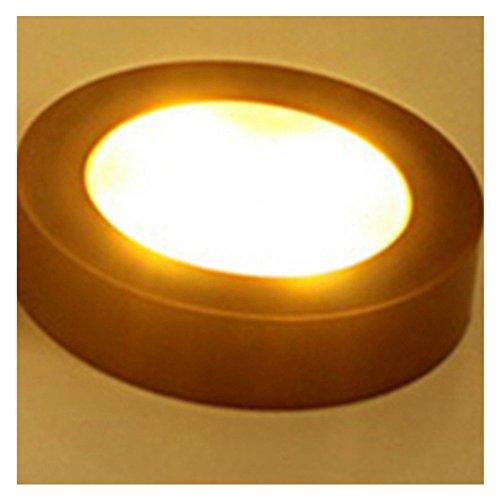 Prom-near Nachtlicht Kind mini tragbare Nachttischlampe Countdown LED Patting Lampe Auto Dekorative Lichter Touch Type Book Lichter (Bronze, Weißes Licht) (Lampe Bronze Tragbare)