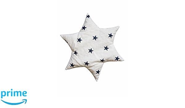Linden 36156/Coussin en noyaux de cerise Forme /étoile motif /étoiles blanc
