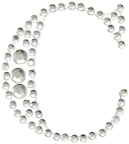 Kaiser Craft C selbstklebend Strass Bling Buchstabe, Silber (Stuff C Buchstabe)