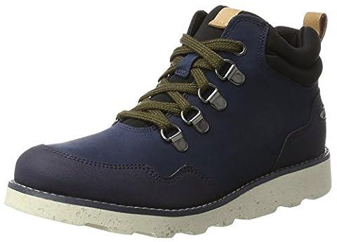 Clarks Jungen Dexyhi Gtx Jnr Stiefel, Blau (Navy Leather), 34