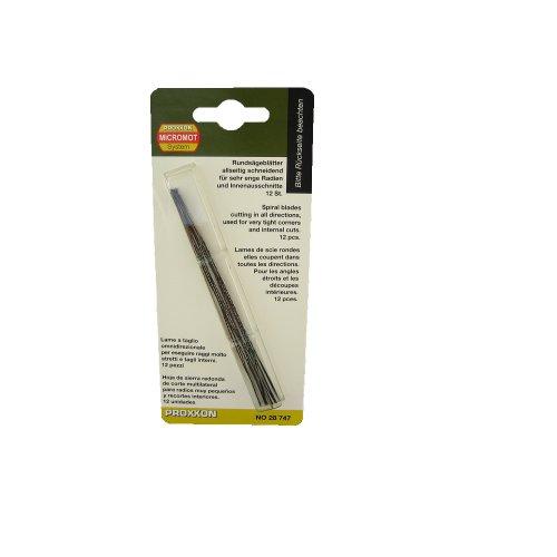 Proxxon 28747 Rundsägeblatt, 130 mm. Mit flachen Enden (ohne Querstift), 12 Stück Stift Ende